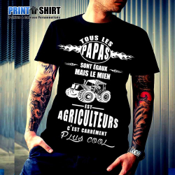 """Tee shirt personnalisé """"Papas égaux agriculteurs"""""""