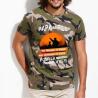 """Tee-Shirt personnalisé camouflage chasseur, humour """"Papa et fils pour la vie"""""""