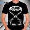 """T-shirt Personnalisé """"La chasse m'appelle et je dois y aller"""""""