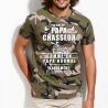 """Tee Shirt Personnalisé chasseur """"Je suis un papa chasseur"""""""