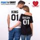 Duo tee-shirts KING / QUEEN Cadeaux Saint Valentin