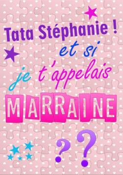 """Puzzle """"Demande Marraine"""" personnalisé avec prénom"""