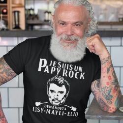 """T-Shirt personnalisé """"Papy rock"""""""