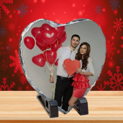 Ardoise Cœur Personnalisée avec votre photo