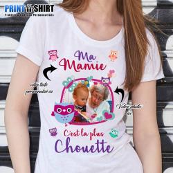 """T-shirt Personnalisé """"Mamie chouette"""""""