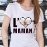 "Tee shirt personnalisé avec photo ""I Love Maman"""