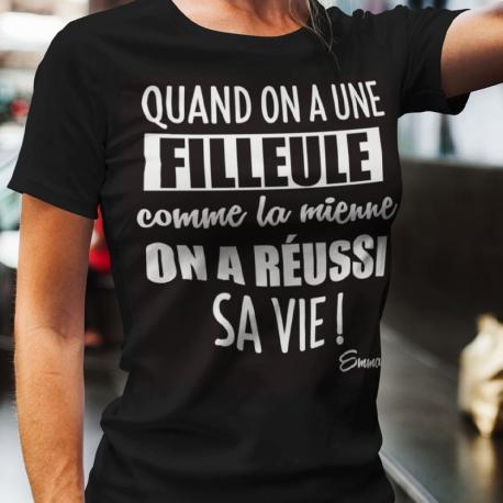 T-shirt Filleule / Filleul Vie réussi !