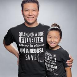 Duo t-shirts Parrain / Marraine Vie réussi !