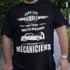 """Tee shirt personnalisé """"Tous les hommes sont égaux mais les meilleurs deviennent mécaniciens"""""""