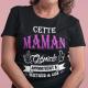 """T-shirt Personnalisé """"Cette maman géniale appartient"""""""
