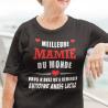"""T-shirt Personnalisé """" Meilleure mamie du monde"""""""