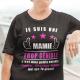 """T-shirt Personnalisé """"Je suis une mamie trop géniale"""""""