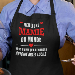 """Tablier de cuisine """" Meilleure mamie du monde"""""""