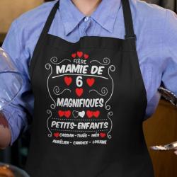 """Tablier de cuisine personnalisé """"Fière mamie de magnifiques petits-enfants"""""""