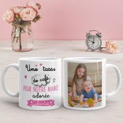 """Mug personnalisé """"Une tasse de café pour mamie"""""""