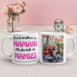 """Mug personnalisé """"La meilleure des mamans et des mamies"""""""