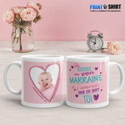 """Mug personnalisé """"Pour une demande de Marraine"""""""