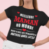 """T-shirt Personnalisé """" Meilleure maman du monde"""""""