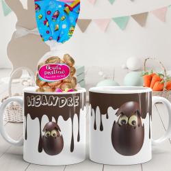 "Mug de Pâques personnalisé ""effet chocolat """