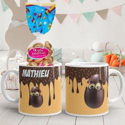 Mug de Pâques personnalisé chocolat gaufrette
