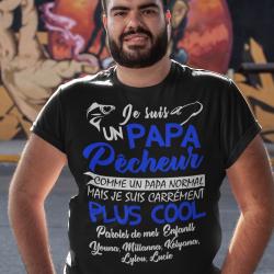 T-shirt personnalisé Papa meilleur des cadeaux !