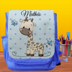 Sac à dos Enfant prénom personnalisé - Girafe