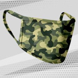 Masque tissu camouflage vert