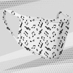 Masque tissu motif note de musique
