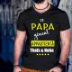 """T-shirt Personnalisé """"Ce papa génial appartient à ..."""""""