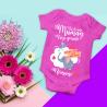 body spécial fête des mères personnalisable avec le prénom de votre enfant