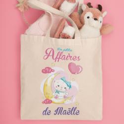 Tote Bag personnalisable enfant ourson lune